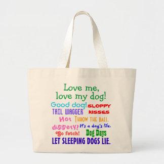La bolsa de asas del amante del perro
