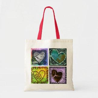 La bolsa de asas del amor - cuatro corazones artís