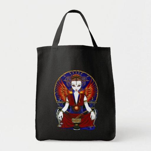 La bolsa de asas del ángel del fuego de la diosa d