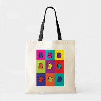 la bolsa de asas del arco iris del gatito del neko
