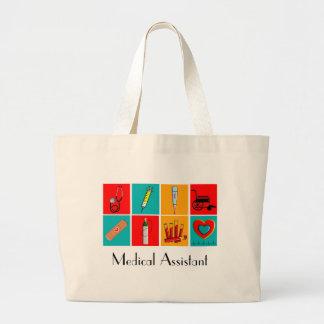 La bolsa de asas del arte pop del auxiliar médico