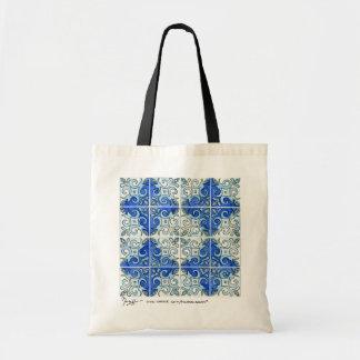 La bolsa de asas del azul del arte de la teja