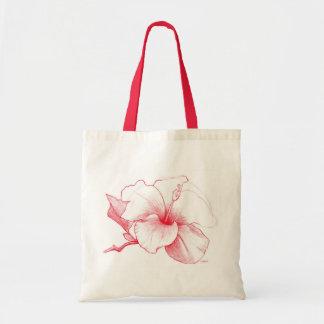 La bolsa de asas del bosquejo del hibisco