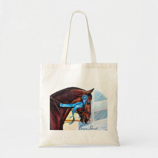 la bolsa de asas del caballo - corazón valiente