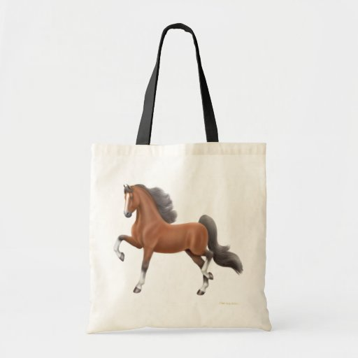 La bolsa de asas del caballo de Saddlebred de la b