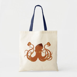 La bolsa de asas del calamar gigante del vector