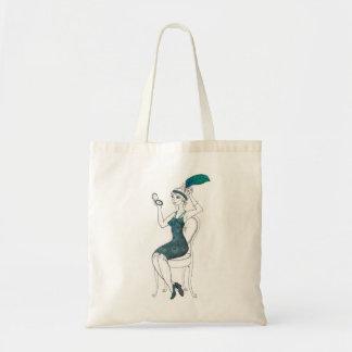 la bolsa de asas del chica de la aleta de los años