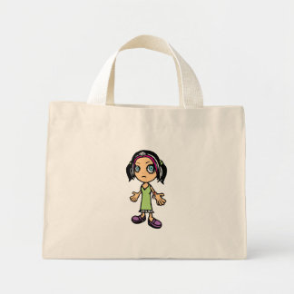 La bolsa de asas del chica del animado
