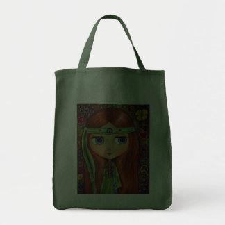La bolsa de asas del chica del Hippie de la paz