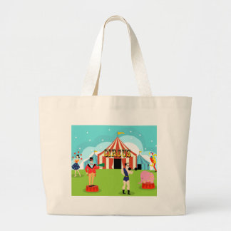 La bolsa de asas del circo del vintage