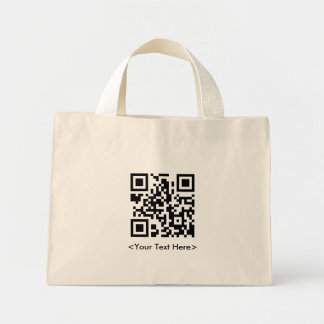 La bolsa de asas del código de QR con el texto