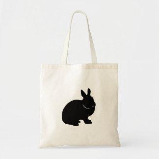 La bolsa de asas del conejo de conejito silueta n
