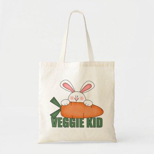 La bolsa de asas del conejo del niño del Veggie