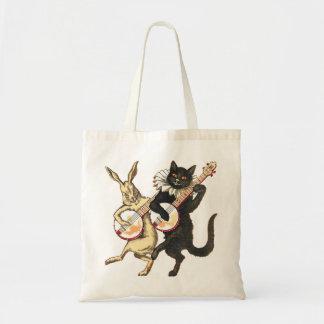 La bolsa de asas del conejo y del gato
