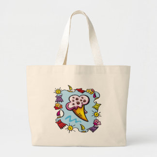La bolsa de asas del cono de helado de los niños