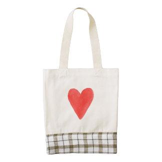 La bolsa de asas del corazón bolsa tote zazzle HEART
