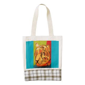 La bolsa de asas del corazón con el tigre bolsa tote zazzle HEART