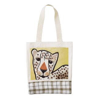 La bolsa de asas del corazón con el tigre Cub Bolsa Tote Zazzle HEART