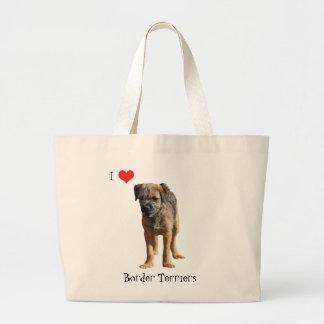 La bolsa de asas del corazón del amor del perro de
