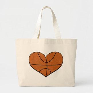 La bolsa de asas del corazón del baloncesto