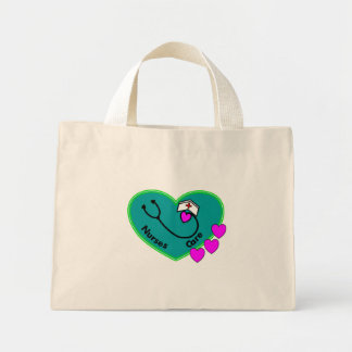 la bolsa de asas del corazón del trullo del cuidad