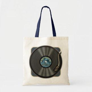 La bolsa de asas del disco de vinilo del vintage