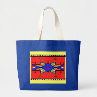 La bolsa de asas del diseño de la manta de los sue