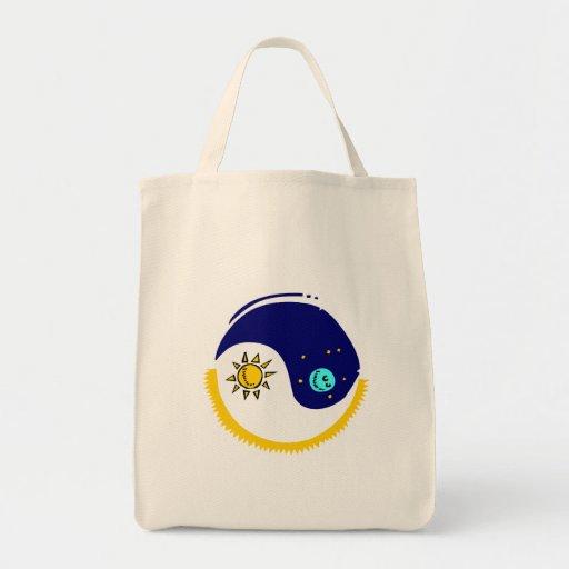 La bolsa de asas del diseño de Yin y de Yang