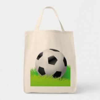 La bolsa de asas del diseño del balón de fútbol