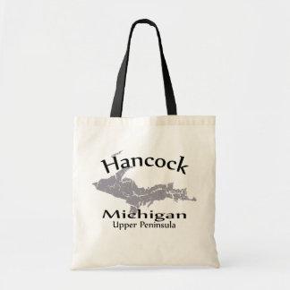 La bolsa de asas del diseño del mapa de Hancock Mi