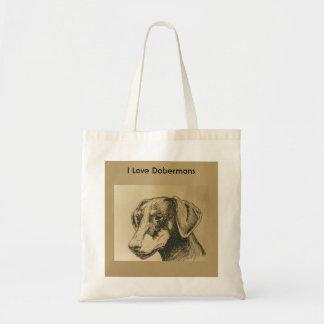 La bolsa de asas del Doberman