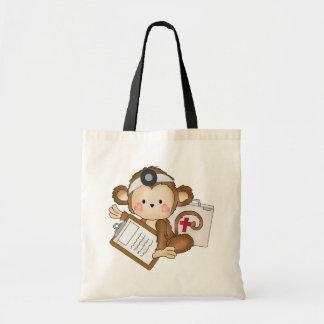 La bolsa de asas del doctor del mono del dibujo an