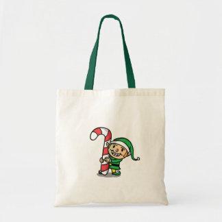 La bolsa de asas del duende del navidad
