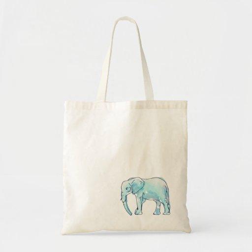 La bolsa de asas del elefante de la acuarela