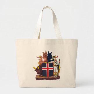 La bolsa de asas del escudo de armas de Islandia