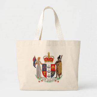 La bolsa de asas del escudo de armas de Nueva Zela