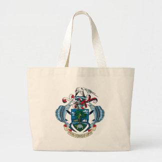 La bolsa de asas del escudo de armas de Seychelles