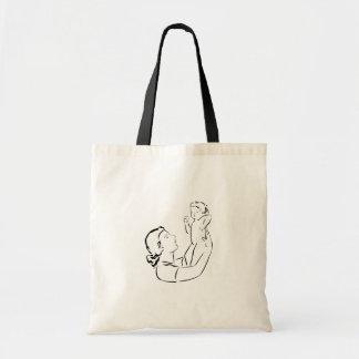 La bolsa de asas del esquema de la madre y del niñ
