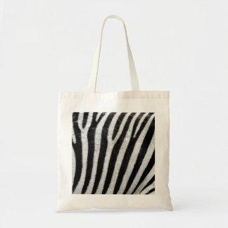 La bolsa de asas del estampado de zebra