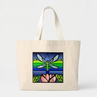 La bolsa de asas del estilo de Tiffany de la libél