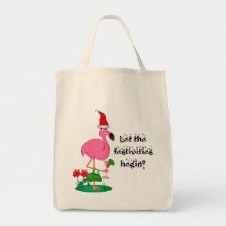 La bolsa de asas del flamenco del navidad