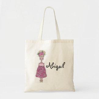 La bolsa de asas del florista - personalice Abiga