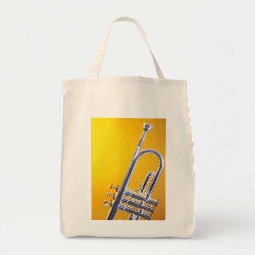 La bolsa de asas del fondo del oro de la trompeta