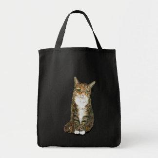 La bolsa de asas del gato de la flora