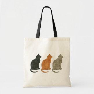 La bolsa de asas del gato de tres gatos