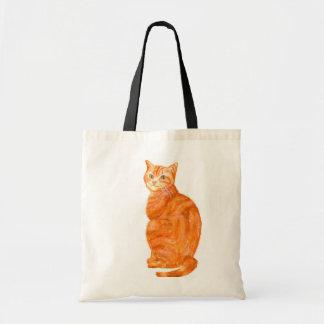La bolsa de asas del gato del jengibre
