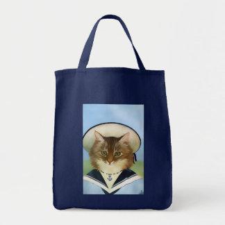 La bolsa de asas del gato del marinero del vintage