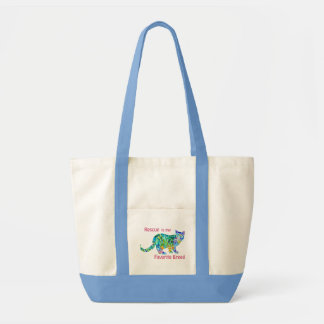 La bolsa de asas del gato del rescate colorida