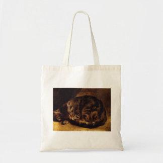 La bolsa de asas del gato el dormir de Renoir