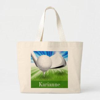 La bolsa de asas del golf
